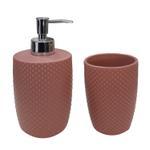 Ceramic Rust Bathroom Set