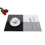 Padova Black&White Table Mat 6 Pcs Set
