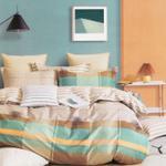 Padova Check Printed Double Bedsheet Multicolor