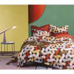 Global Black Geometrical Printed Double Bedsheet Multicolor