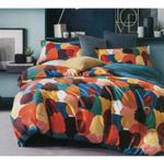 Global Black Modern Printed Double Bedsheet Multicolor
