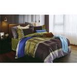 Global Black Modern Self Printed Double Bedsheet Multicolor