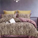 Global Black Paisley Printed Double Bedsheet Multicolor