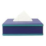 JS Purple Leather Tissue Box