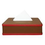 JS Choco Leather Tissue Box