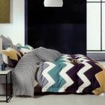 Four Season Zigzag Printed Double Bedsheet Multicolor