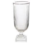 Glass cylinder vertical cut platinum edge on leg Home Accessories
