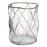 Glass lantern clear with gold net Home Accessories