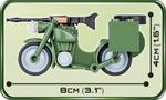Cobi 55 Pcs Small Army 2149 1942 Bmw R75