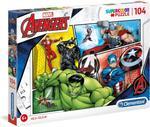Clementoni - Super Color Puzzle Avengers 104 Pcs