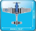 Cobi 265 Pcs Small Army 5536 North American P-51D