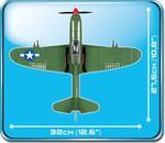 Cobi 240 Pcs Small Army 5540 P39 Airacobra