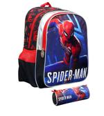 """Spiderman Games Backpack + Pencil Case 16"""""""