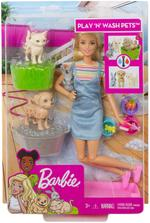 Barbie Pets - Play 'N' Wash Doll And Accessories