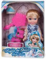 Grandi Giochi Snow Queen 15cm with Pony