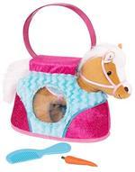 Blue Stripe Bag & Beige Horse