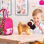 Leopard Plush Glam Bag & Pug