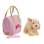 Gold & Pink Heart Print Glam Bag W/Cocker Spaniel