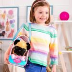 Zigzag Print Glam Bag W/Pug