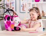 Pink & Black Spot Print Glam Bag W/Maltese