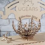 UGEARS FLOWER 3D WOODEN PUZZLE