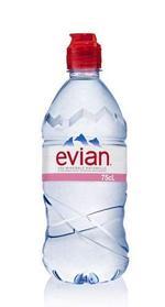 Evian Natural Mineral Water Sports Cap 750ml x 12