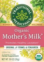 Traditional Medicinals Organic Mother`s Milk Herbal Tea, 16 Tea Bags