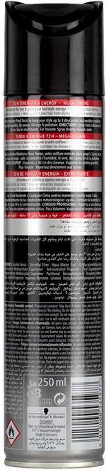 Taft Hair Spray Power Lacquer Black 250ml