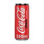 Coca Cola Zero Carbonated Soft Drink, 6 Cans x 330ml