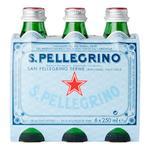 San Pellegrino Sparkling Water Glass Bottle 250ml x6