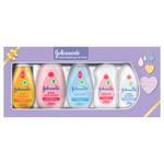 JOHNSON'S Baby Essentials Gift Box: Baby Shampoo, Soft Lotion, Bath, Oil, Powder, Wipes