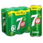 7UP Carbonated Soft Drink Cans 330ml x6