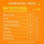 Lipton Peach Ice Tea Non-Carbonated Low Calories Refreshing Drink 320ml x6
