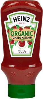 Heinz™ Organic Tomato Ketchup, Top Down Squeezy Bottle, 580g