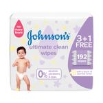 JOHNSON'S ULTIMAMTE CLEAN WIPES 48'S 3+1 33% OFF