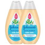 JOHNSON'S PURE PROTECT KIDS BATH 500ml TWIN 20%OFF