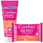 CAREFREE INTIMATE WASH COTTON FLOWER + VE 200ml + WIPES FREE