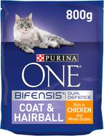 PURINA ONE Coat and Hairbal Cat Food 800g