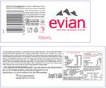 EVIAN PROMO NATURAL MINERAL WATER 24 X500 ML