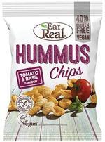 EAT REAL HUMMUS CHIPS TOMATO & BASIL 135G