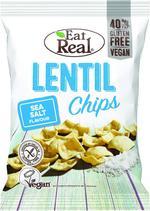 EAT REAL ORGANIC LENTIL CHIPS SEA SALT 100G