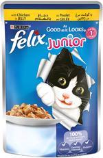 Felix Chicken Wet Cat Food Pouch 100g x12 ( 9+3 Free)