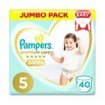 Pampers Premium Care Pants Diapers, Size 5, Junior, 12-18kg, Jumbo Pack, 40 ct