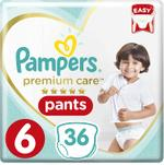 Pampers Premium Care Pants Diapers, Size 6, Extra Large, >16kg, Jumbo Pack, 36 ct
