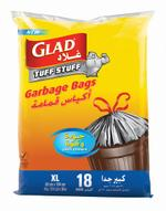 Glad® Tuff Stuff Garbage X-Large Bags 170 Litres 18 count