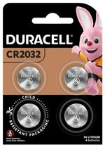 Duracell Specialty 2032 Lithium Coin Battery 3V, pack of 4 (DL2032/CR2032)