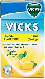 Vicks Soothing and Refreshing Throat Drops - Lemon, 40g
