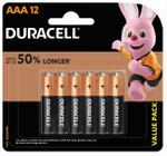 Duracell Type AAA Alkaline Batteries, pack of 12