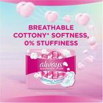 Always Cotton Soft, Large sanitary pads with wings, 30 ct
