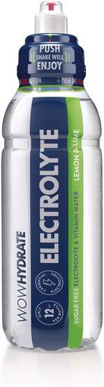 WOW Hydrate Electrolyte 500ml - Lemon & Lime